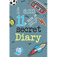 I Am 11 And This Is My Secret Diary: Activity Journal Notebook for Boys 11th Birthday | Hand Drawn Images Inside | Drawing Pages & Writing Pages | Age ... with Basketball, Football, Skateboard, Rocket