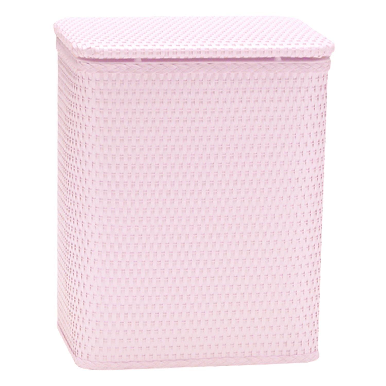Redmonusa Redmon for Kids Chelsea Pattern Wicker Nursery Hamper, Crystal Pink