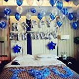 iPartyCool Happy Birthday Balloons, 3D Premium Aluminum Foil Banner Balloons for Birthday Party Decorations and Supplies-HB2S [1-Year Guarantee]