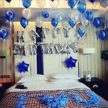 Amazon Happy Birthday Balloons Aluminum Foil Banner