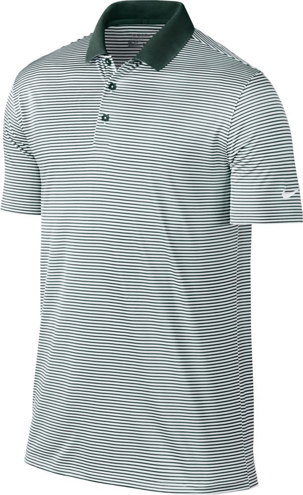 Nike Golf Victory Mini Stripe Polo (Pro Green/White) (Small)