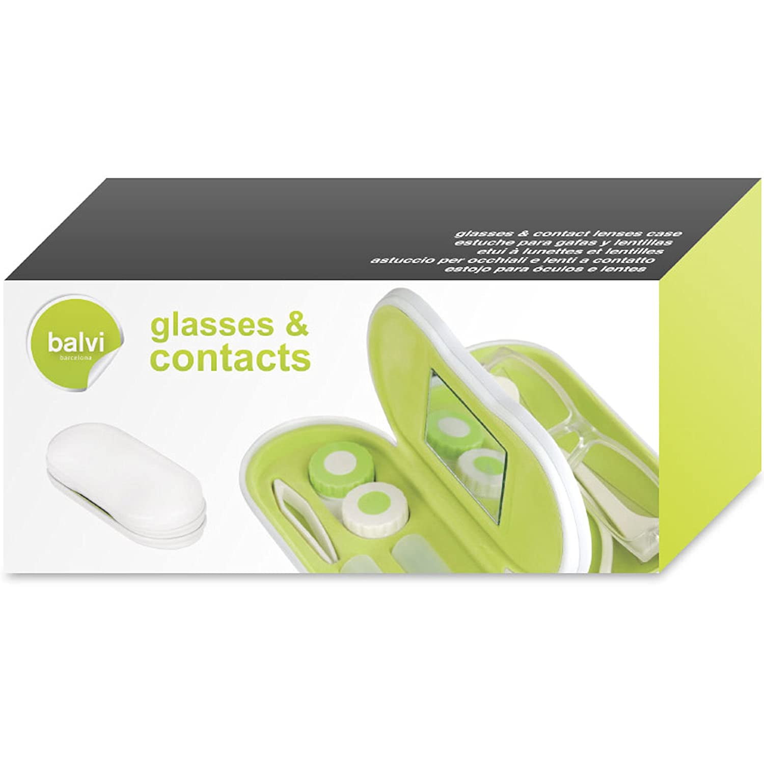 Balvi - Eyeglasses and contact lens case Twin white