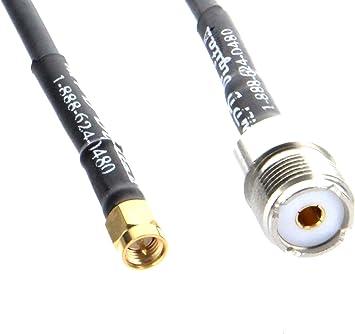 SMA Male Plug to UHF Female Coaxial Jumper 40CM RG58 Coax SO-239 to SMA Ham Radio Antenna Yaesu Handheld to PL259 Cable