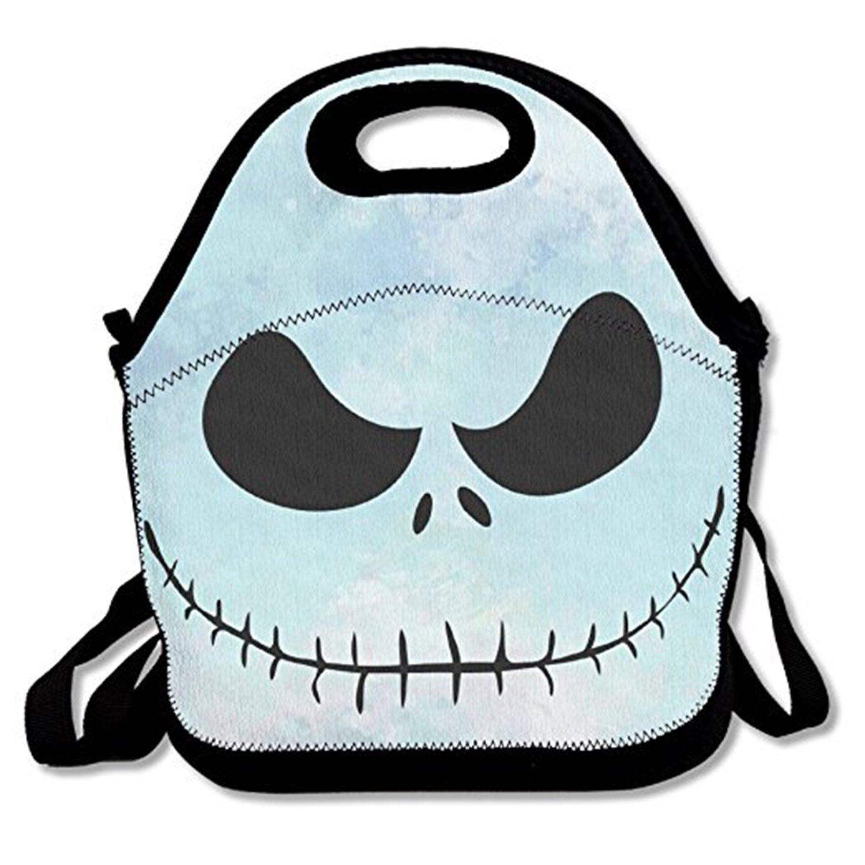 ZMvise Before Christmas Jack Skull Skellington Lunch Tote aislado almuerzo picnic bolsas reutilizables de cajas hombres mujeres ni/ños Toddler enfermeras Travel bag