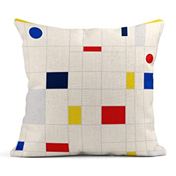 Kinhevao Cojín Retro geométrico Bauhaus Swiss Memphis Folletos ...