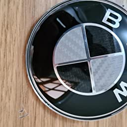 Another LUDOSTREET REF0002 Logo Emblem Badge Attachment Compatible with BMW 73mm Rear Trunk Car Black