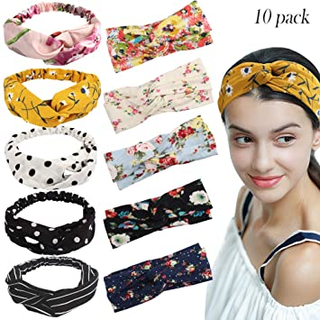 4-Pack Fashion Women Girls Floral Headbands Headwraps Assorted Colors /& Styles