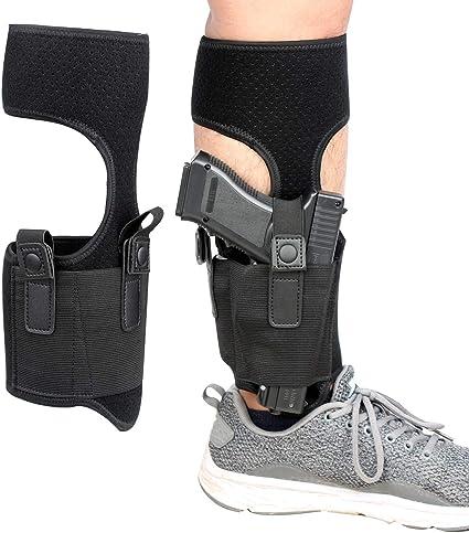 US Concealed Pistol Ankle Leg Holster Gun Hidden Carry Magazine Bag For Hangun