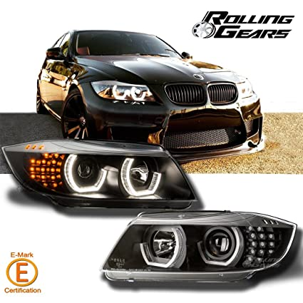 Nice Black Headlight Headlamp Projector For BMW E90 E91 3 Series, New Generation  LED Angel