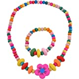 SmitCo LLC Girls Jewelry - For Kids, Little Girls and Toddlers - Bright Stretch Necklace and Bracelet Set - Great Costume Jewelry and Accessories Sets For Children To Play Pretend and Dress Up