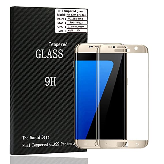 88ec6d5e77d For 3D Curved Full Screen Coverage Samsung Galaxy S7 Edge Tempered Glass -  High Definition -