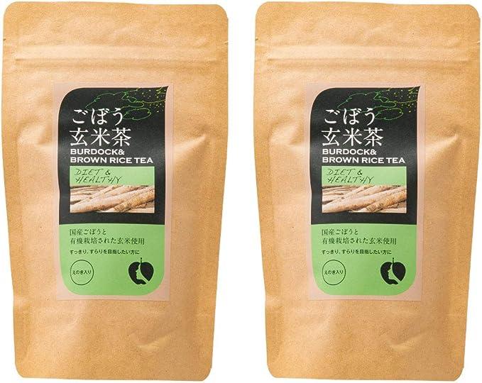 [ナチュラルハウス] ごぼう玄米茶 えのき入 32g (2gx16袋)×2袋 オーガニック 国産ごぼうを使用