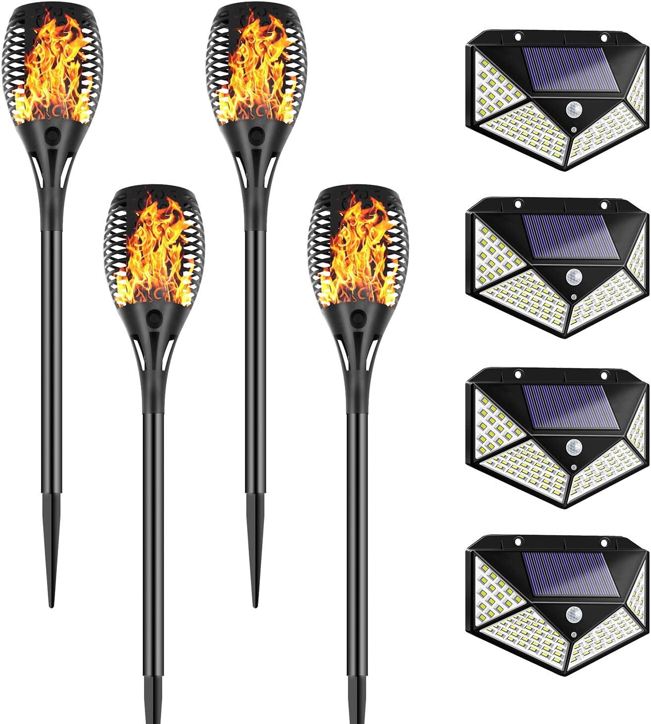 Solar Lighs Outdoor, Auto On/Off Dust to Dawn, Waterproof Lawn Decoration, Solar Powered Light for Patio Deck, Yard, Garden, Driveway