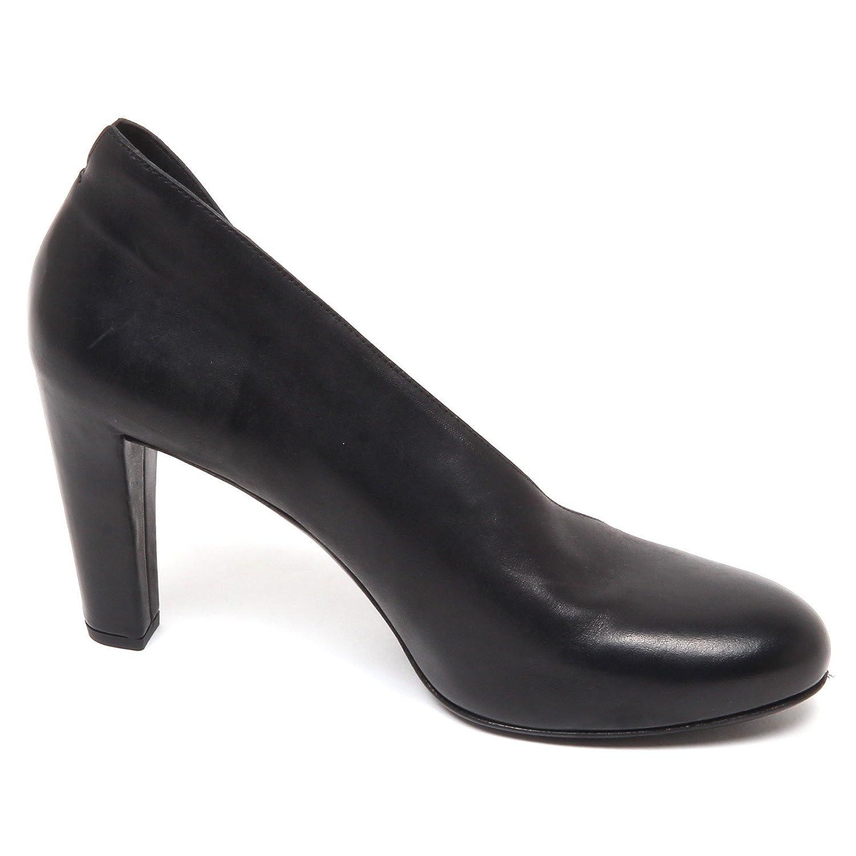 E7732 Decollete damen schwarz DEL Carlo schuhe Leather Leather Leather schuhe Woman 7da40e