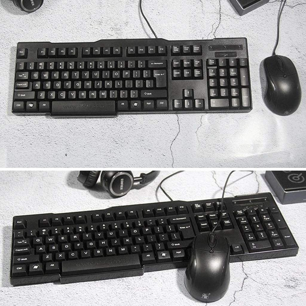 PC Keyboard and Mouse Set Send Pad USB Keyboard Computer Office Game Set Size : USB+USB Desktop Notebook for Computer Laptop