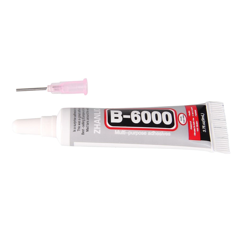 Beauty7 Colle Glue Adhesive B6000 Pour Colle Strass Cristals Bijoux Acrylique Diamond (9ml)