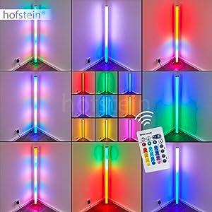 Colonne lumineuse Laugar en plastique blanc à LED RGB - réglage de la couleur par télécommande - lampadaire pour salon - chambre à coucher - chambre d'enfant