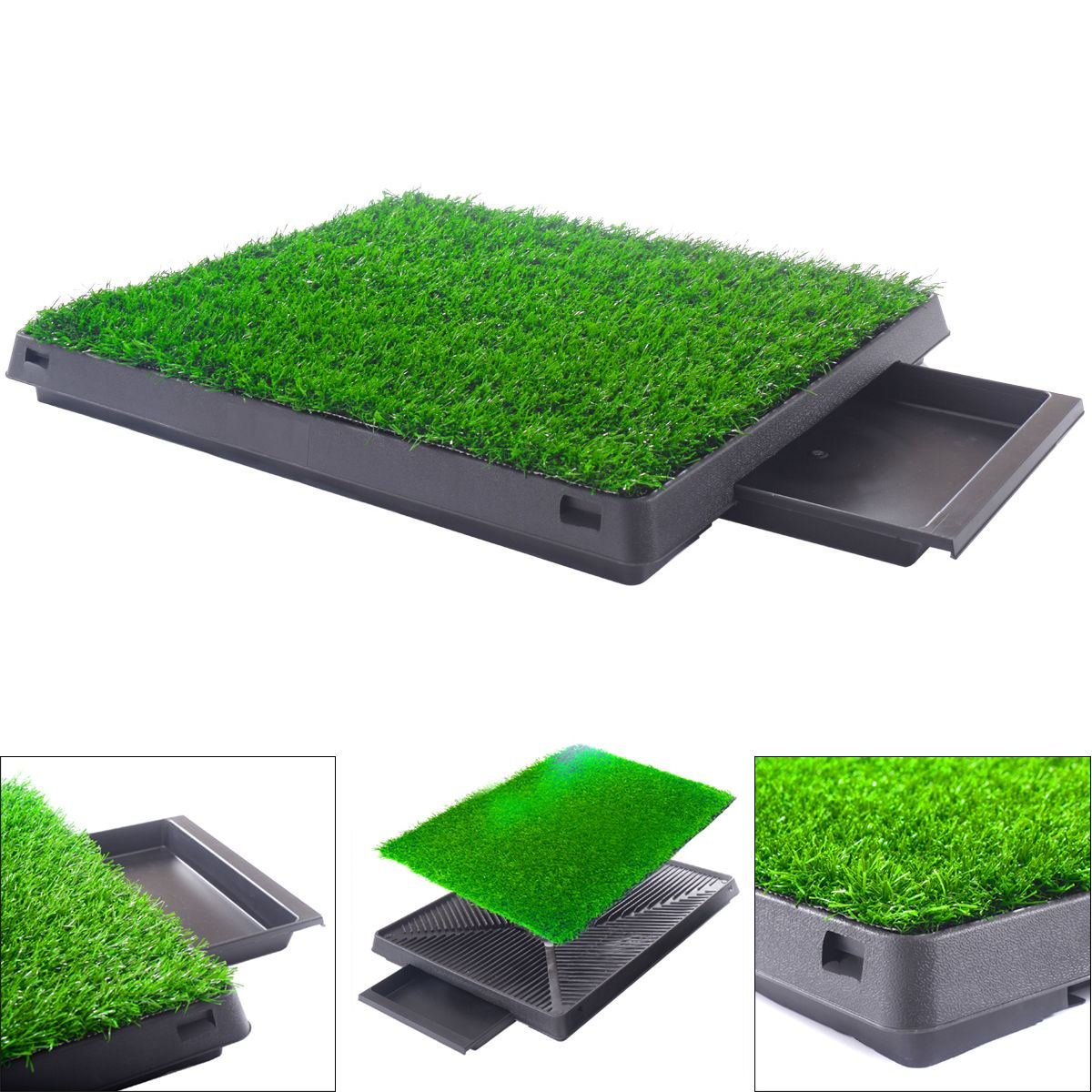 Dog Potty home Training Toilet Pad Grass Surface Pet Park Mat Outdoor Indoor