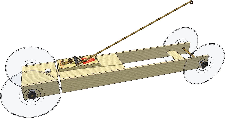 Amazon Com Doc Fizzix Basic Ii Mousetrap Car Distance Kit Toys Games
