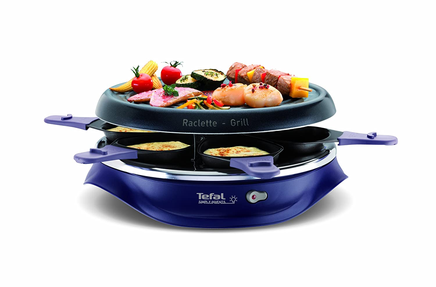 Raclette Grill Australia tefal simply invents x6 raclette re506412 six pans with non stick