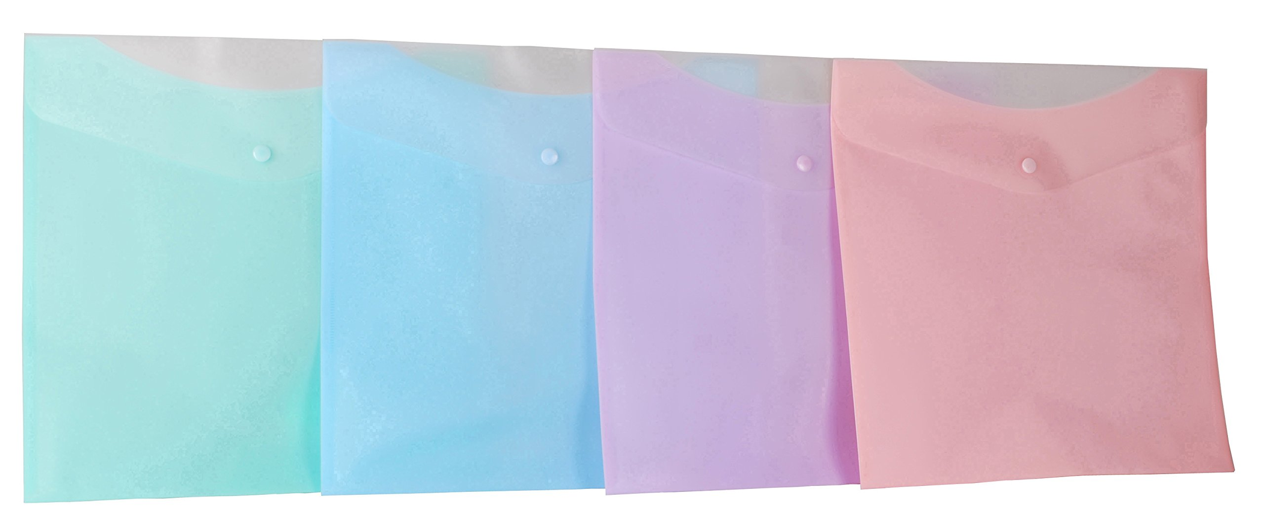 Filexec Products Lite Classic 2x2 Craft Envelope, Polypropylene, 13 x 13 Inches, Assorted Colors, Pack of 12 (50398-4004)
