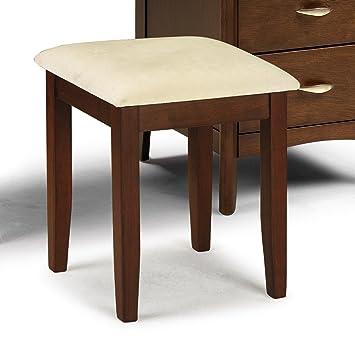 dark wood vanity table. Julian Bowen Minuet Dressing Stool  Dark Wood Amazon co uk