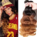 B&F Hair Brazilian Virgin Body Wave Weft 3 Bundles 100% Unprocessed Virgin Human Hair Extensions Natural Color (100+/-5g)/pc