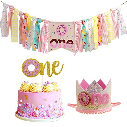 Amazon Donut High Chair Banner For 1st Birthday Party Decorations