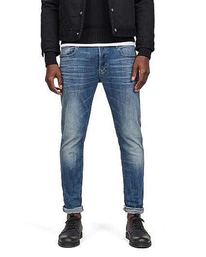 9d60d6d74da G-STAR RAW Men's 3301 Slim Jeans, Blue (Vintage Medium Aged 8968-2965),  36W/34L: Amazon.co.uk: Clothing