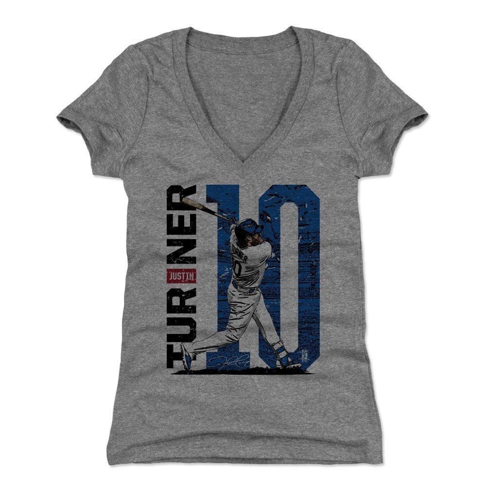 500レベル's Justin Turnerレディースシャツ – Los Angeles野球の女性の衣服 – Justin Turner Stadium B07B79VXSW Tri Gray XX-Large
