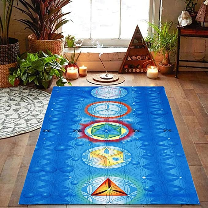 collectsound Rainbow 7 Chakra Mandala Bohemia Manta Tapiz Verano Playa Toalla Yoga Mat