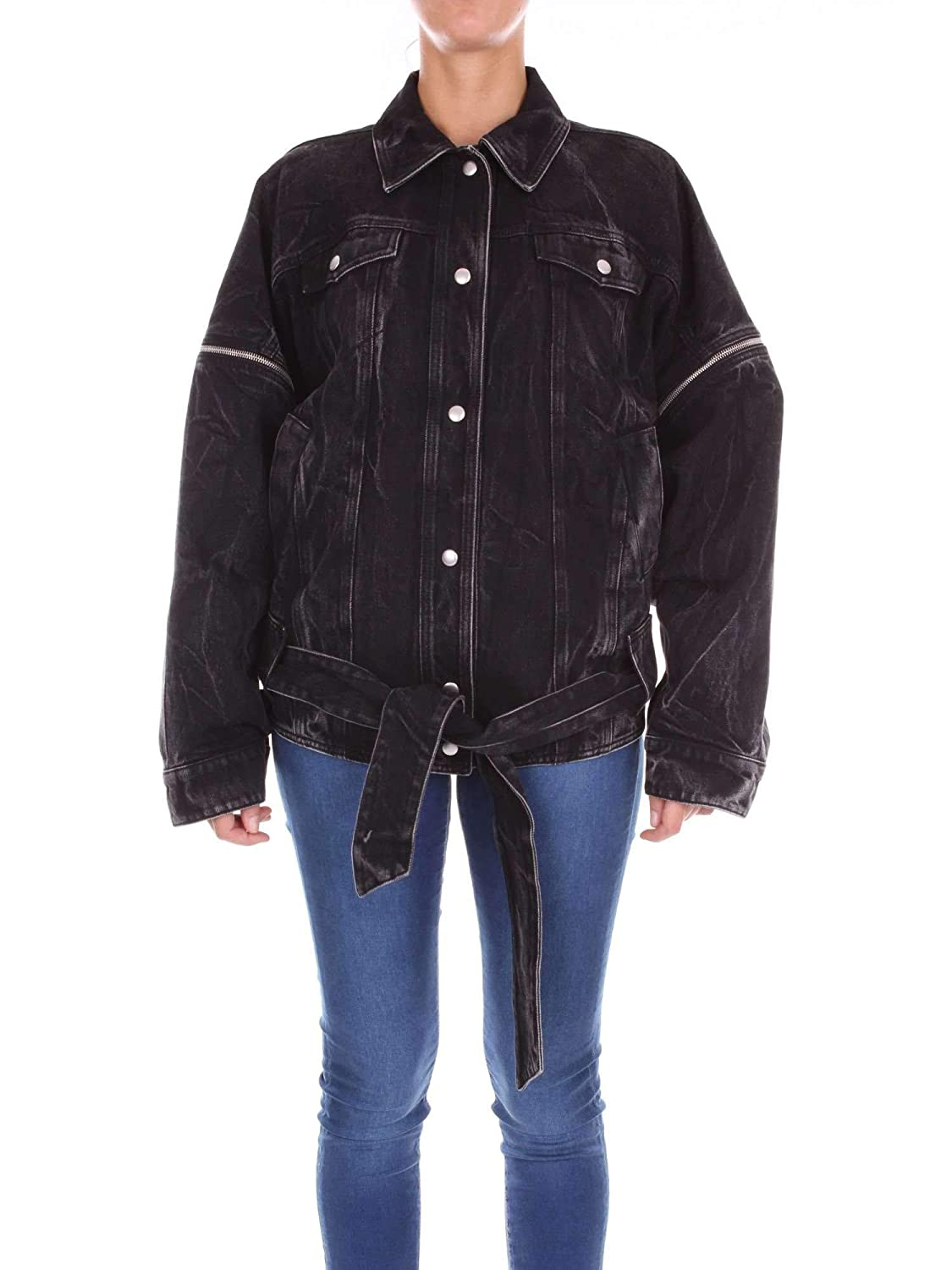 Brand Size 38 GIVENCHY Women's BW303F5049001 Black Cotton Jacket