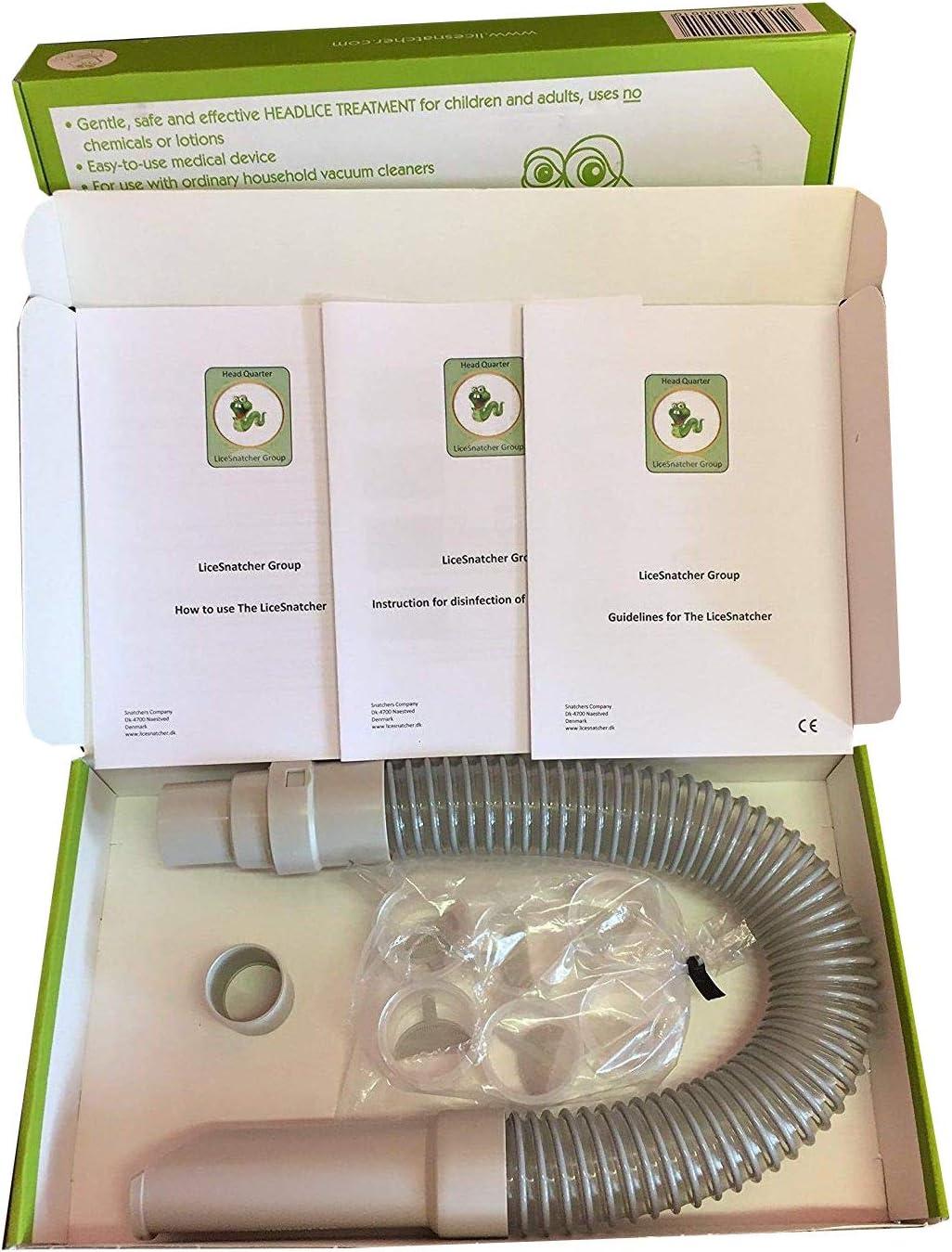 licesnatcher- aspirador de POUX breveté, Natural para dispositivo médico de Clase 1. 6 Recambios gratuitos.: Amazon.es: Salud y cuidado personal