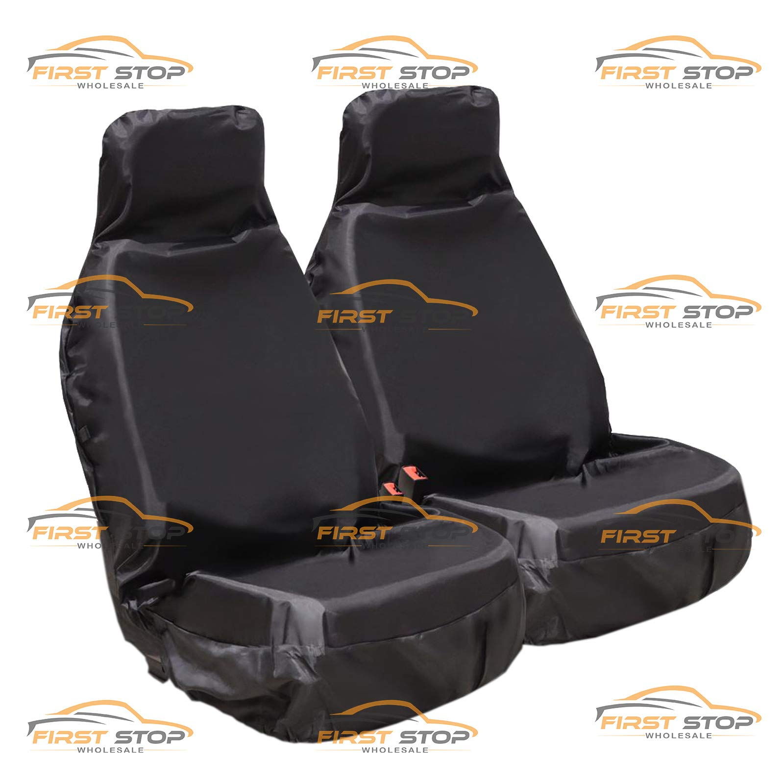 Outlander Galant Space Runner ASK Lancer Mirage L200 GTO Colt ASX FSW Heavy Duty Waterproof Car Front Black Seat Covers 1+1 Black HD1+1BLACK24 Fits: 3000GT FTO Shogun Grandis Challenger