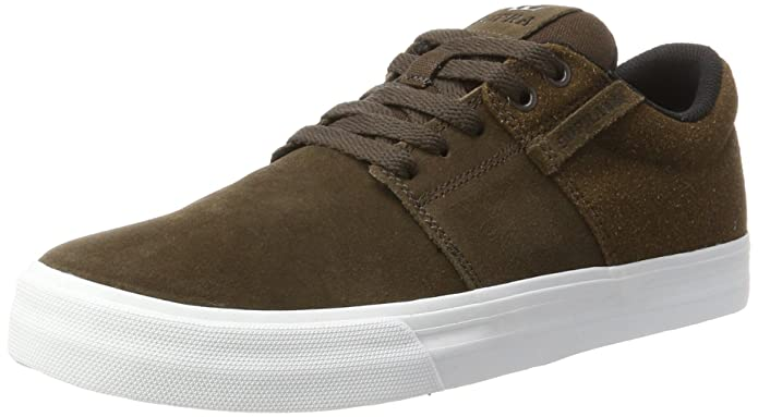 Stacks II Vulc, Basses Homme - Marron - Braun (Demitasse-White)Supra