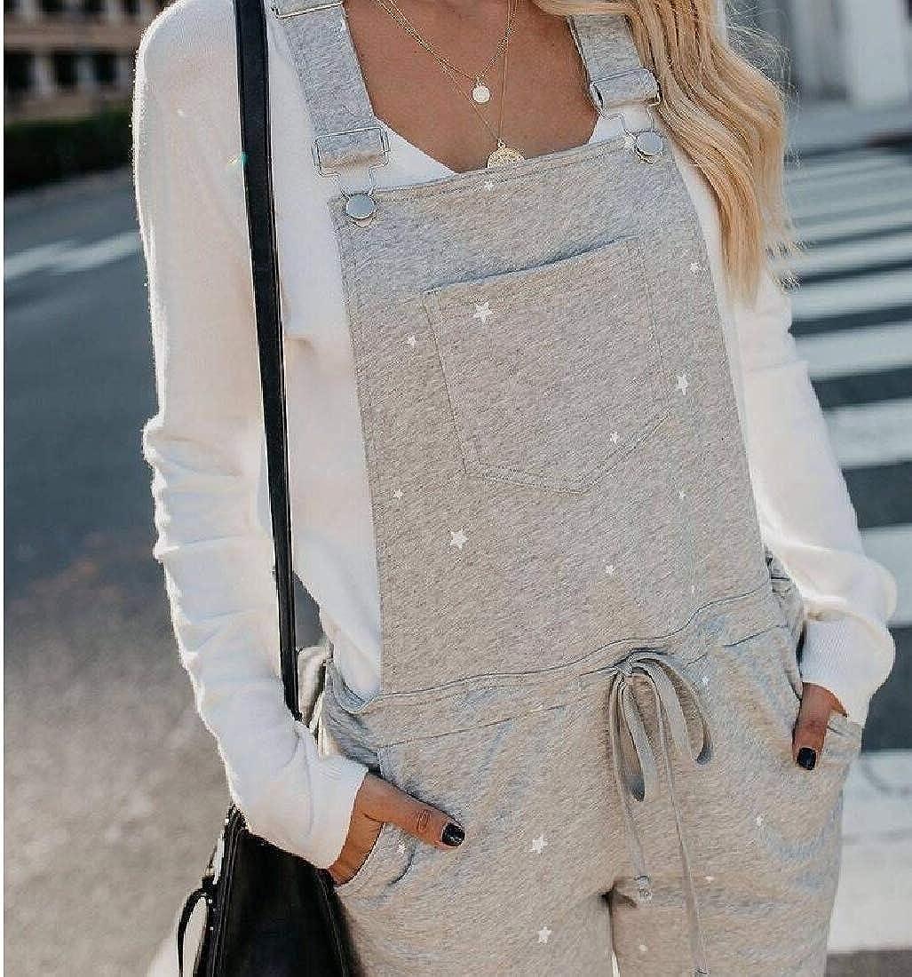 Sebaby Women Comfort Fitness Long Pants Premium Casual Leisure Bib Pants