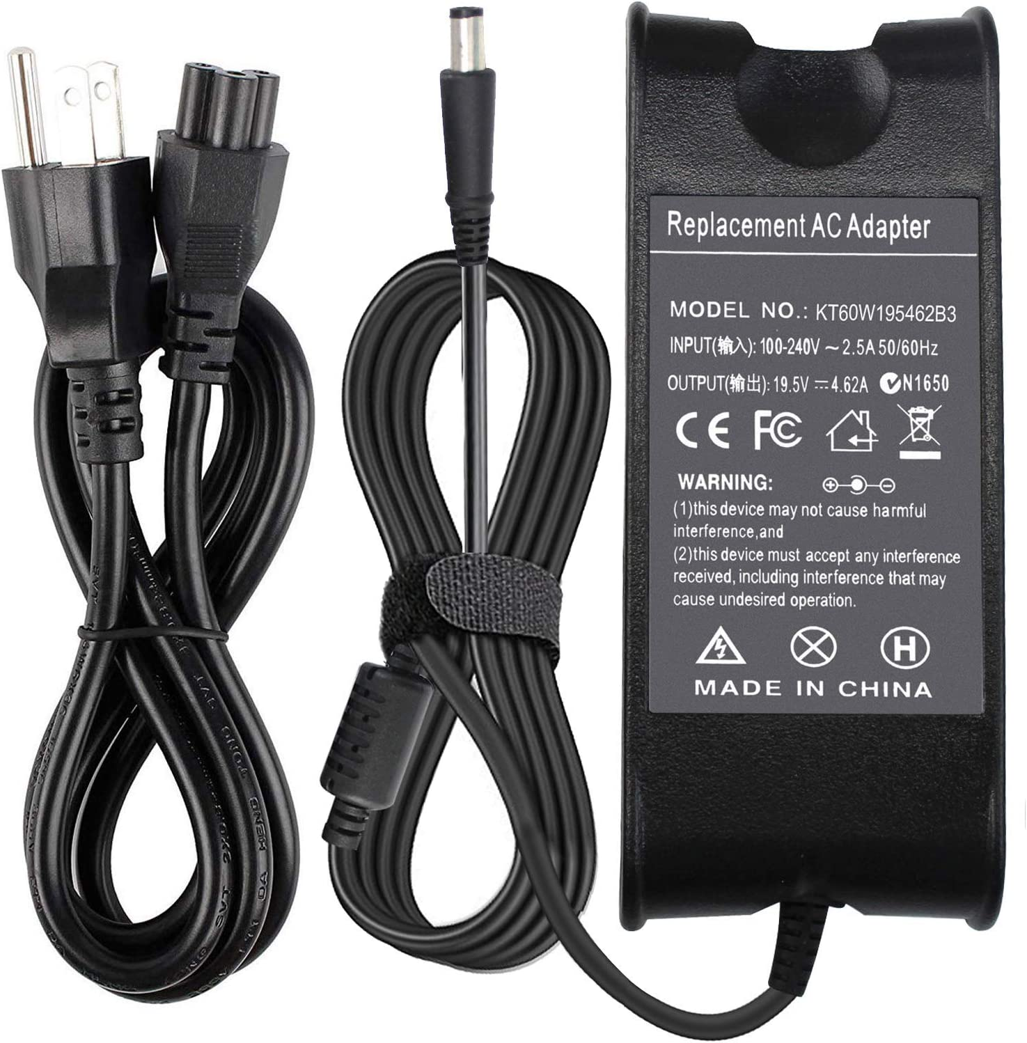 Yongerwy PA-10 PA-12 AC Adapter Charger for Dell Latitude 14Z 15R 17R E5250 E5450 E5430 E5440 E6430 E6530 E6230 E7440 6400 8500 N4010 Fits:PA-3E PA-1650-05D2 LA65NS0-00