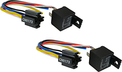 New Power Relay-Bosch Style 12 Volt w Pigtail HD 30 Amp Continuous Duty 5-Wire