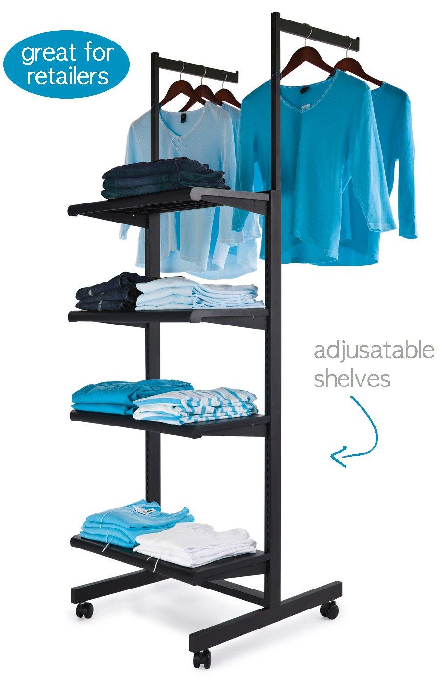 Perchero para prendas de vestir con 4 estantes ajustables y ...