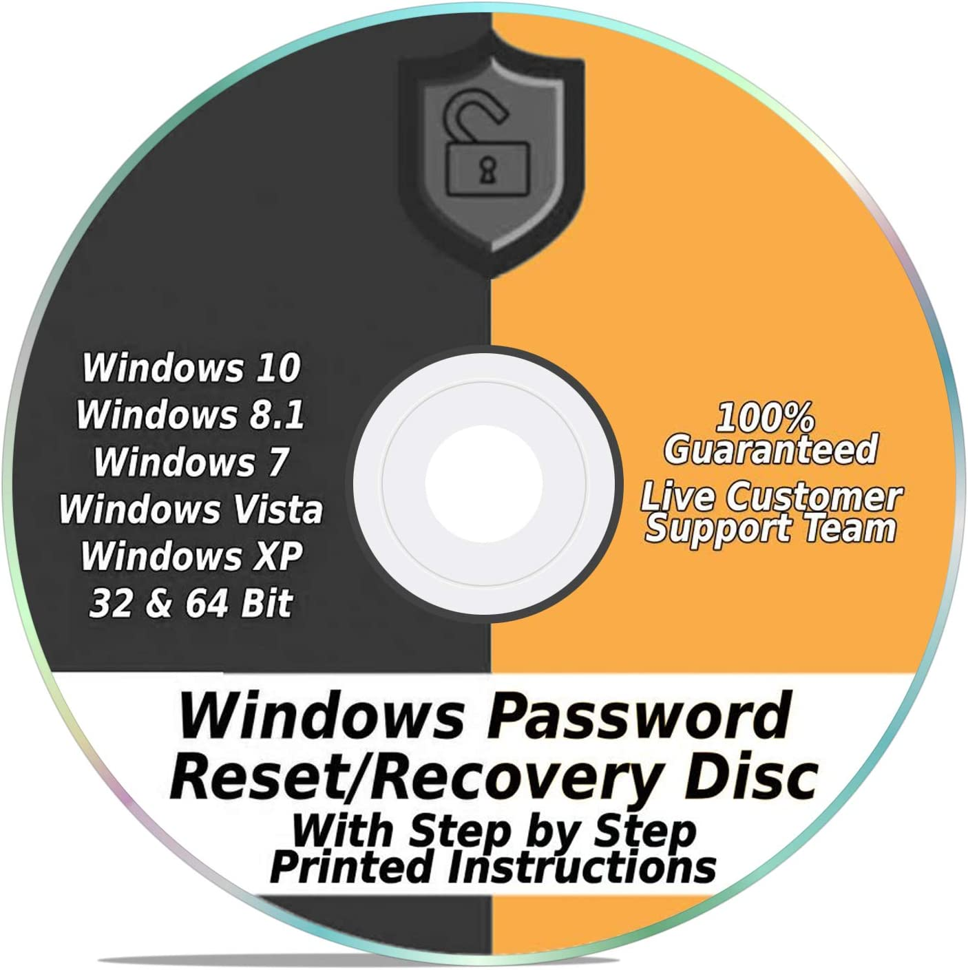 Windows Password Reset Recovery Disk Windows 10, 8.1, 7, Vista, XP #1 Best Unlocker Remove Software CD DVD (For All PC Computers)