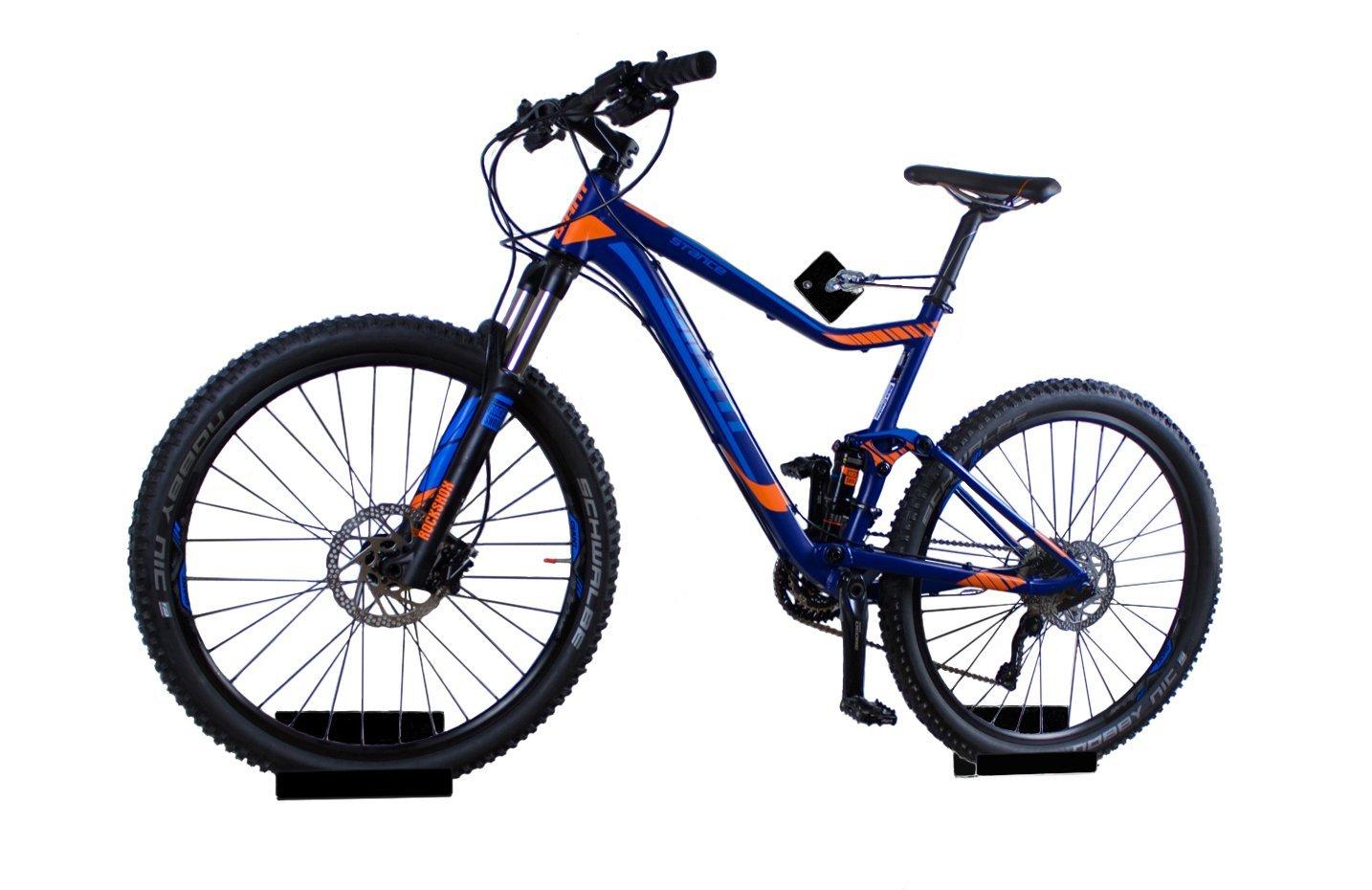 trelixx Soporte de Pared para Bicicleta acrílico Negro (Acabado láser) para Bicicleta de montaña/de Carreras, Soporte de diseño para Bicicleta con Montaje en la Pared Lixx AR BL