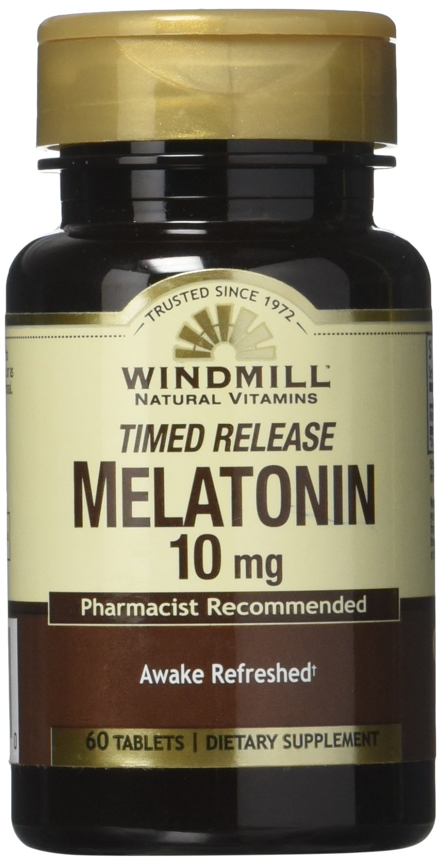 Amazon.com: Windmill Melatonin Tabs, 10 mg, T/R Wmill 60: Health & Personal Care