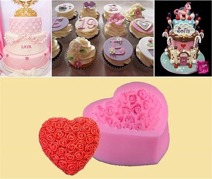 Yuammei 1PC DIY rose Love silicone 3D muffa rosa sugar Craft decorare fondente di cottura strumenti torta