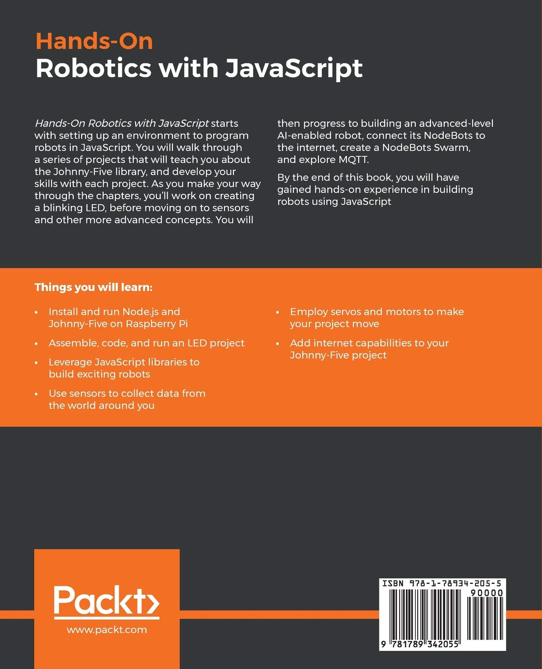 Buy Hands-On Robotics with JavaScript: Build robotic