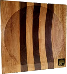 New Alaska Ulu Chopping Bowl Board (Large 8 Inch- Use for 6 Inch ulu Blade)