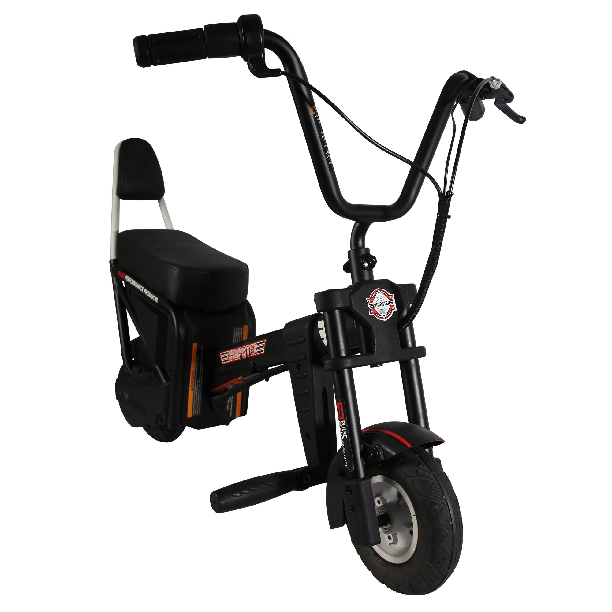 Pulse Performance Products Chopster E-Motorcycle - 24 Volt Electric Ride On Bike for Kids - Black by Pulse Performance Products
