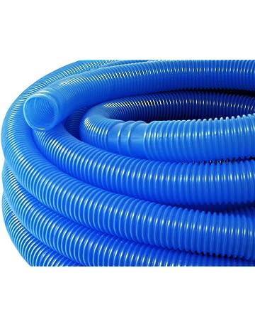 Manguera piscina azul con manguitos 32mm 15m 165g/m tubo plástico piscinas jardín Fabricado en
