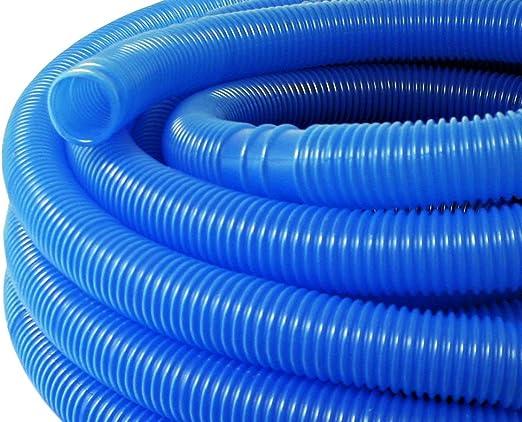 WilTec Manguera Piscina Azul con Manguitos 38mm 15m 190g/m Tubo plástico Piscinas jardín Fabricado en Europa: Amazon.es: Jardín