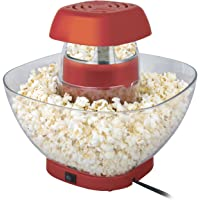 MINI CHEF ELECTRIC TANDOOR Popcorn Maker - Volcano Style Innovative Design with Large Serving Bowl(Red)