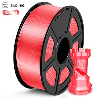 SUNLU PLA Filamentos 1.75mm Rojo sandía Seda, lmpresora 3D ...